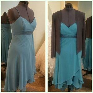 NEW Ocean color hi-low dress